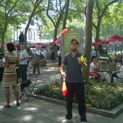 Jugglers Wow Passerby in Bryant Park
