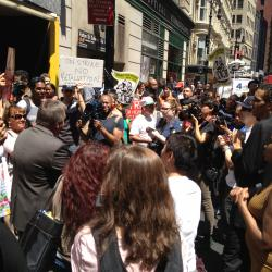 Fast-Food Workers Hit the Streets, Asking for Higher Wages