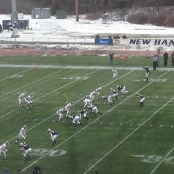 Football Falls to No. 1 UNH in the FCS Playoffs