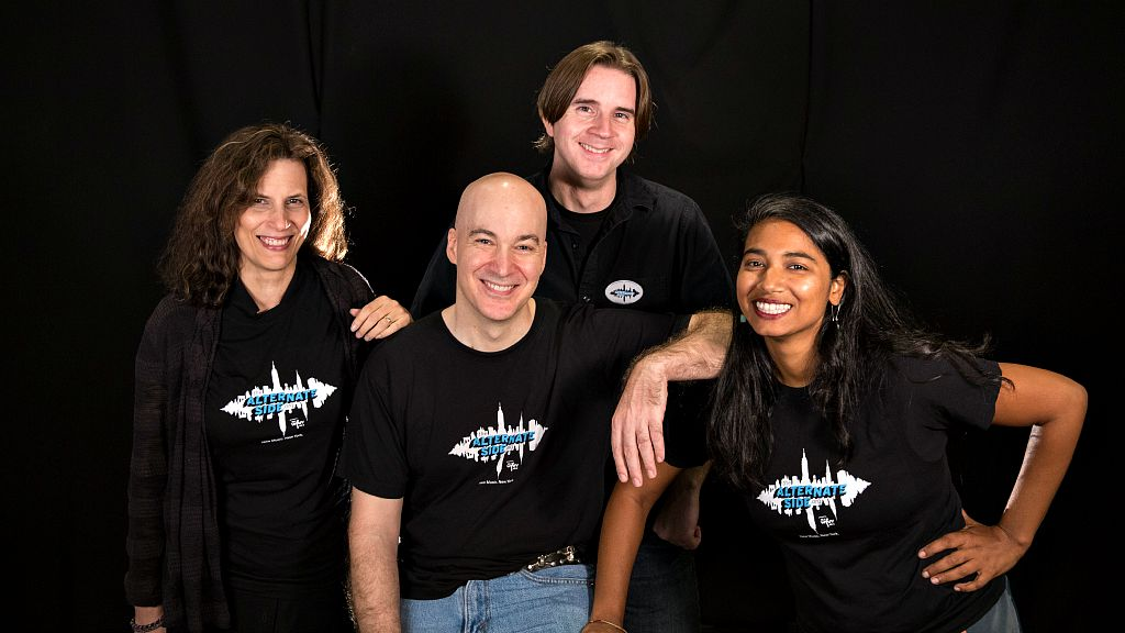 The Alternate Side staffers: Russ Borris, Alisa Ali, Eric Holland and Kara Manning (photo by Jim O'Hara)